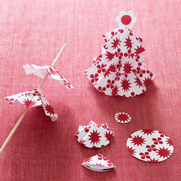 Pop-Up Paper Tree Gift Embellishments