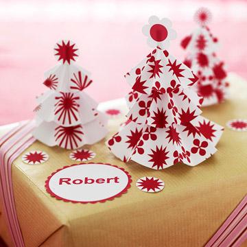 Gift Wrap with Pop-Up Paper Trees