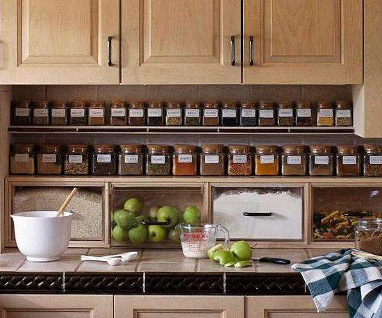 spice storage kitchen
