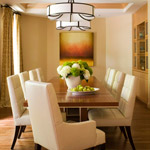 Dining room, built-in cabinets