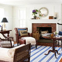 Blue and white color palette
