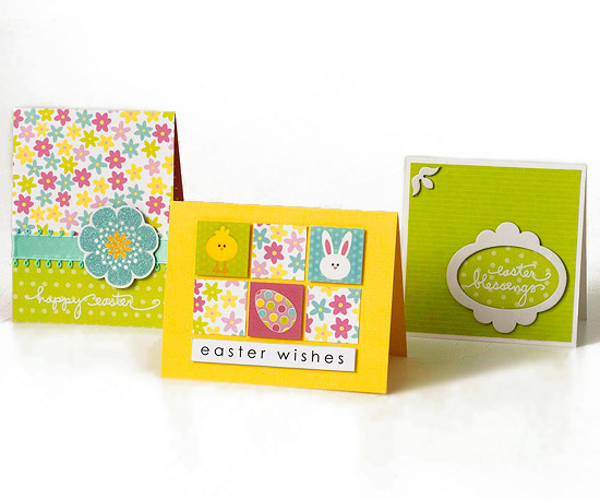 Floral, Green, and Checkered Easter Cards