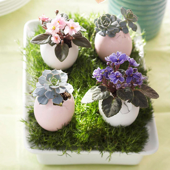 Easter Egg flower holders
