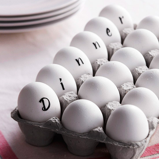 Spell-It-Out Eggs