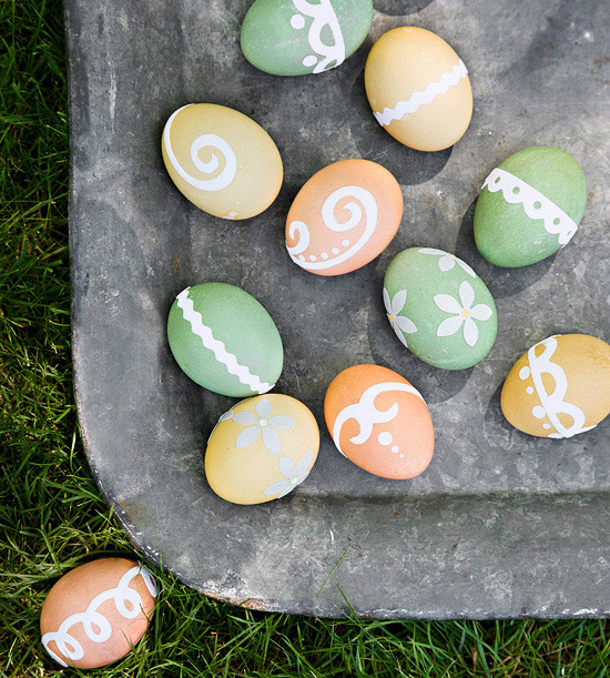 Sticker-and-Dye Easter Egg Designs