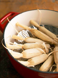 Place tamales in a steamer