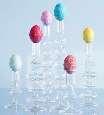 Easter Egg Candleholder Display