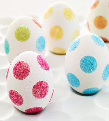 Glitter Polka Dot Eggs