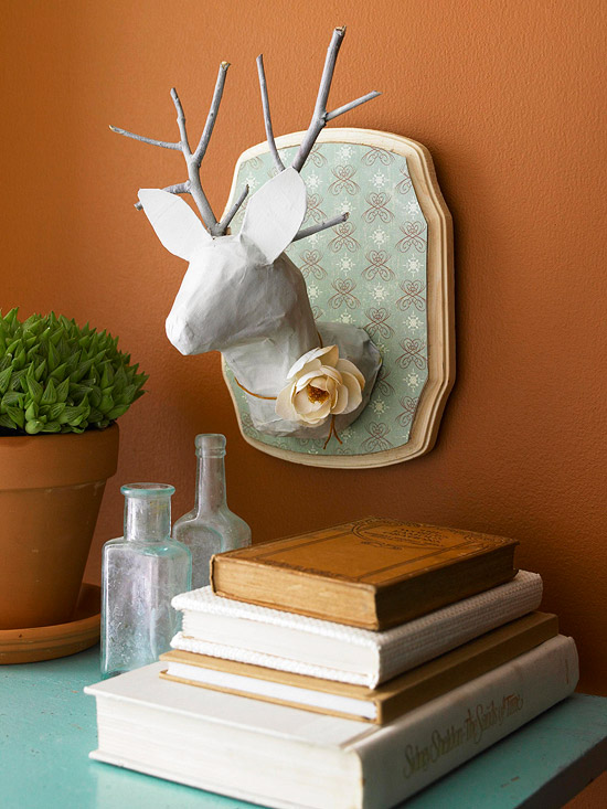 Deer animal-head plaque