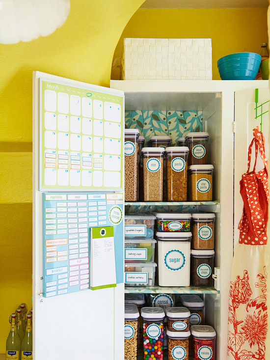 Pantry, shelf, organize, label, storage, kitchen, declutter