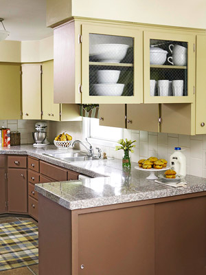 Ceramic tile, kitchen cabinetry