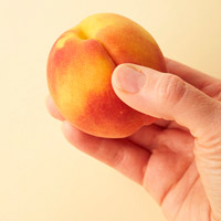 Testing Ripeness of a Peach