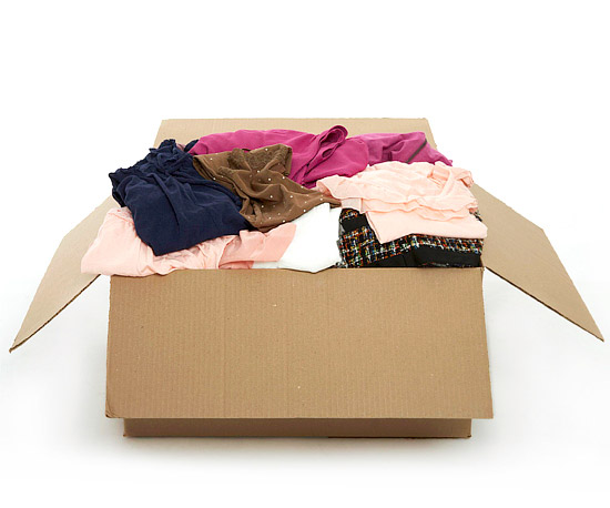 Box with clothes