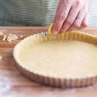 Fixing a tear in the pastry dough