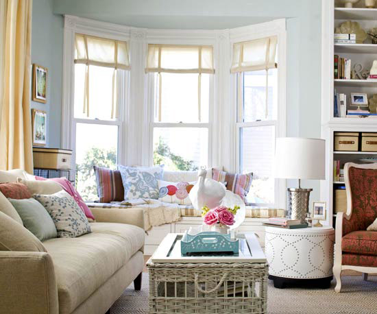 Light pastel living room