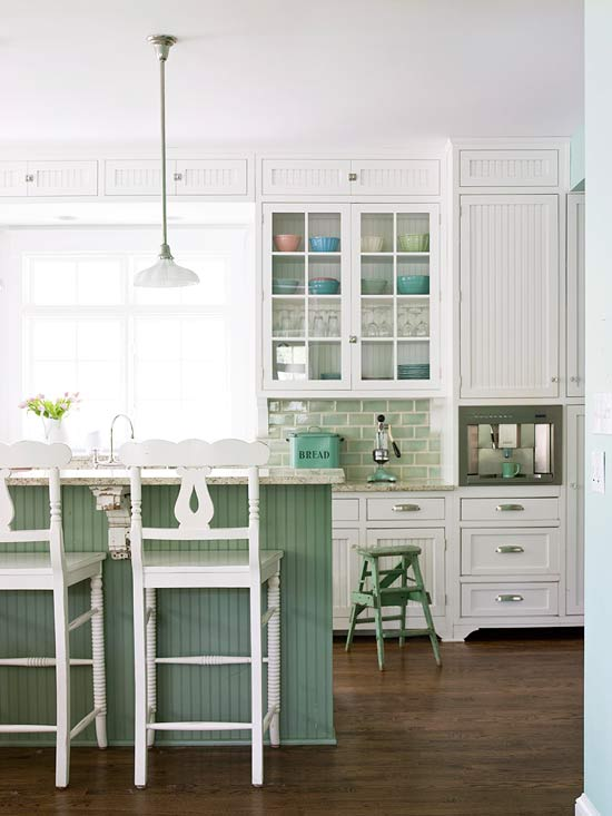 Seaside Green Kitchen