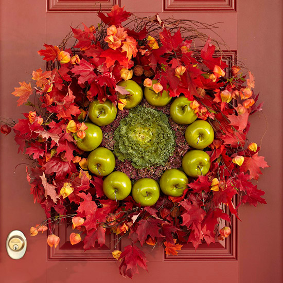 Green Apple Fall Wreath