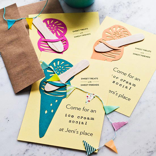 Ice Cream Social Invitations