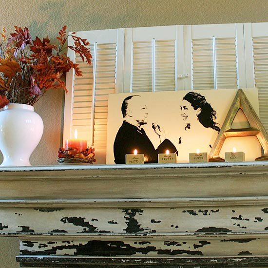 Emily Allison Fall Mantel