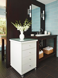 Versatile Vanity in Bathroom