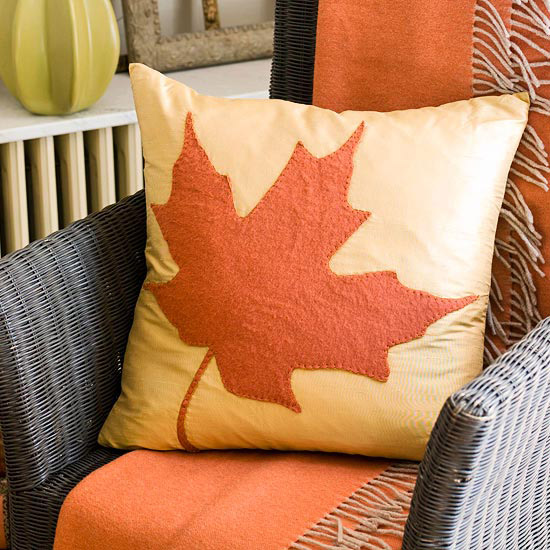 Maple Leaf Pillow Embellishment