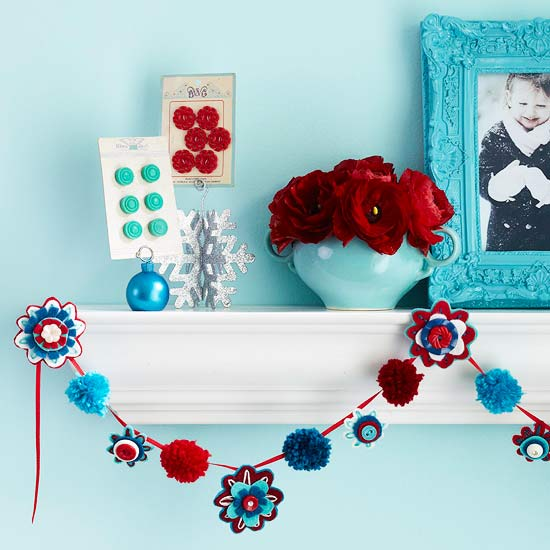 Pom-Pom and Flower Garland