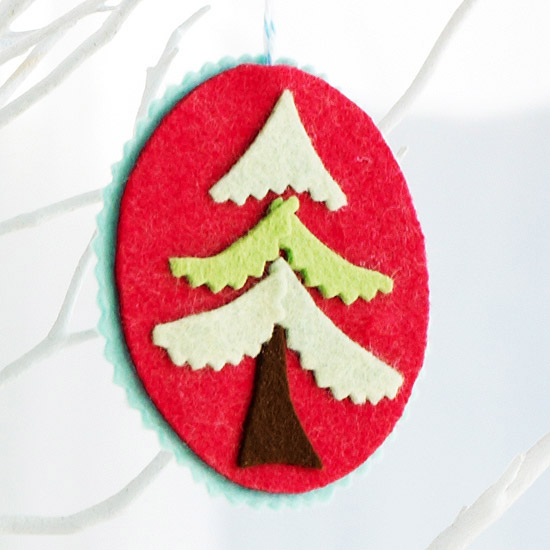 Felt Christmas Tree Cutout Ornament