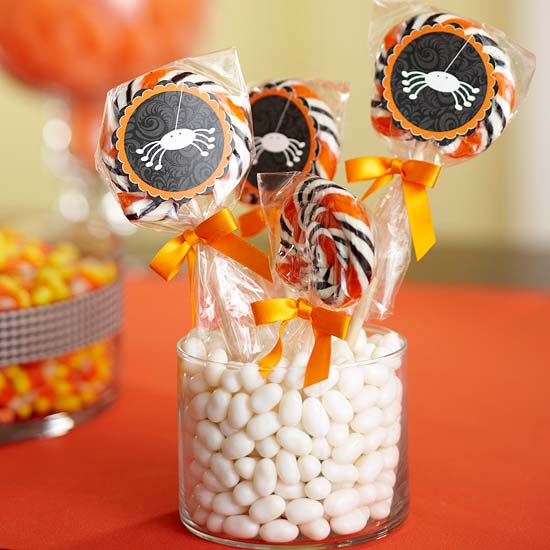 Halloween Sucker Centerpiece