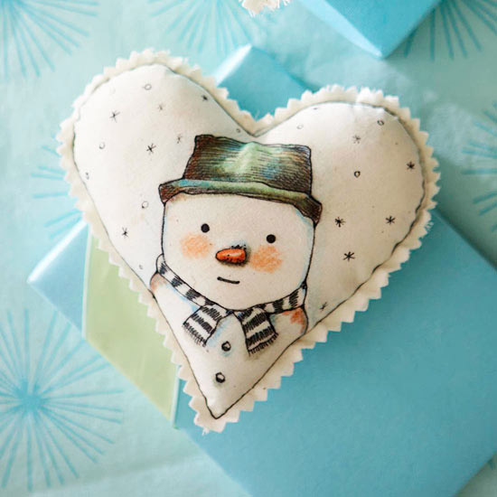 Heart-Shape Snowman Ornament