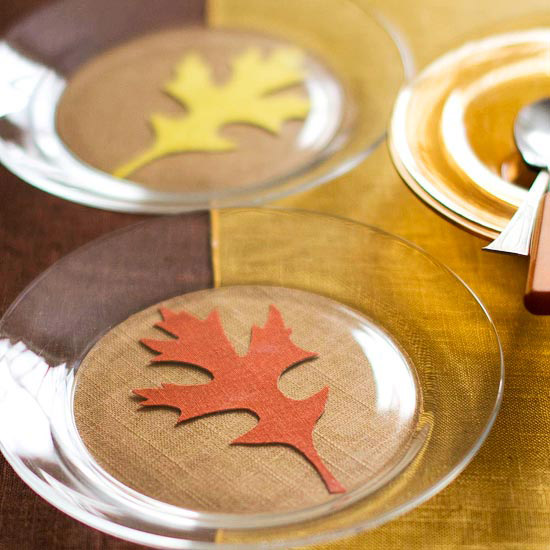 Fall Leaves Plate Decoration