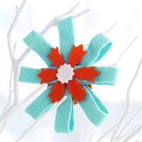 Felt Rosette Christmas Ornament