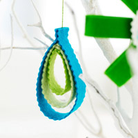Felt Teardrop Christmas Ornament