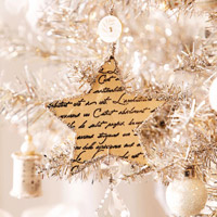 Script Star Christmas Ornament