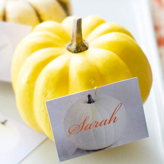 Miniature Pumpkin Place Card