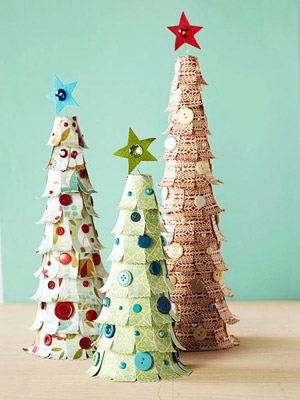 Patterned Paper Christmas Trees