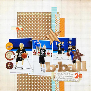 Basketball Scrapbook Page