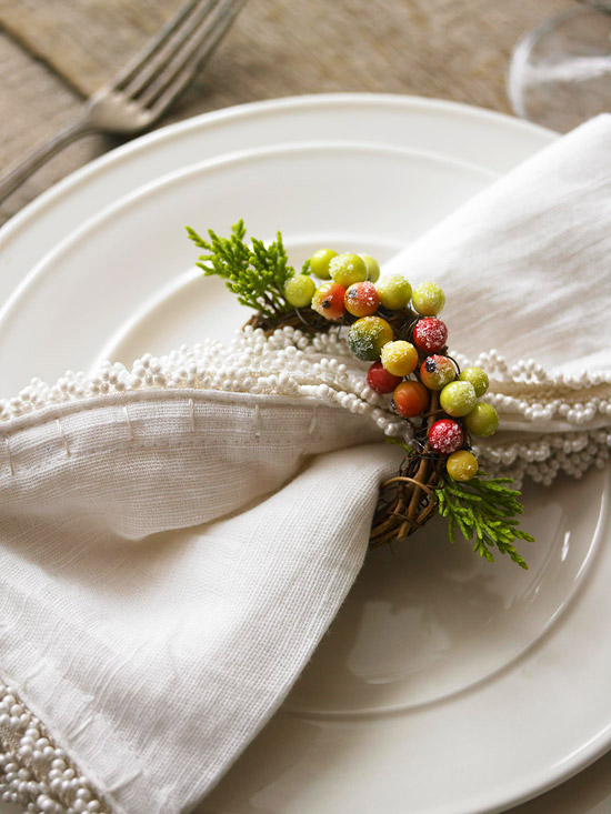 Berry napkin ring