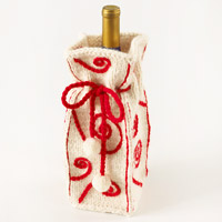Knitted Wine Bag