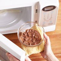 using the microwave to melt chocolate