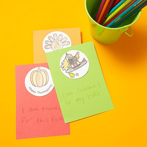 Colorful Thanksgiving Cards