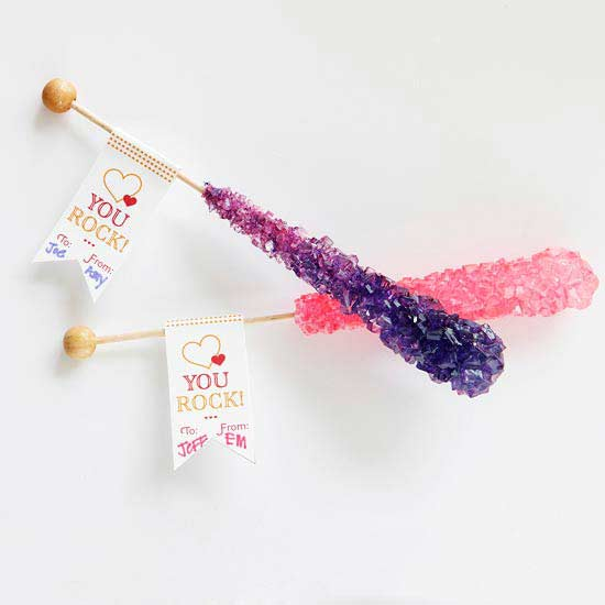 Rock Candy Valentine Idea