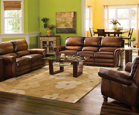Sofa In Brown How To Arrange Furniture In A Long Narrow Living Room