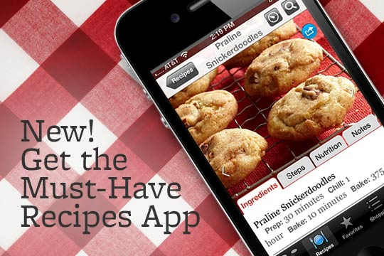New! Get the Must-Have Recipes App