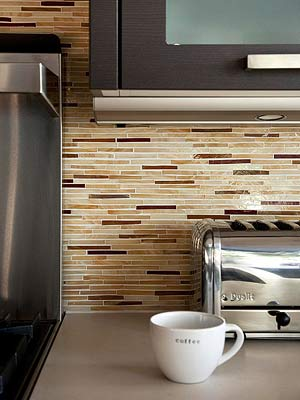 Translucent Tile Backsplash