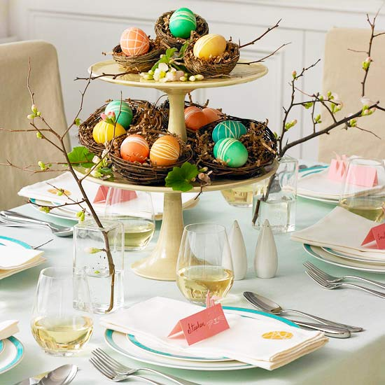 Multi-Level Easter Egg Centerpiece