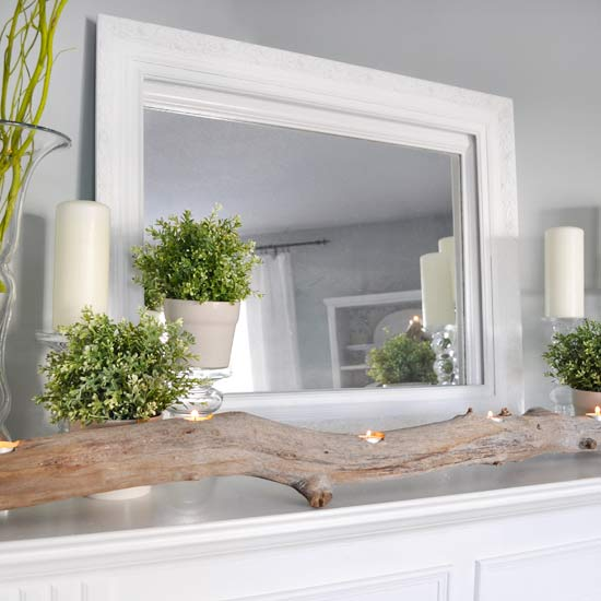Nature-Inspired Spring Mantel