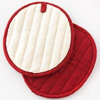 Red pot holders