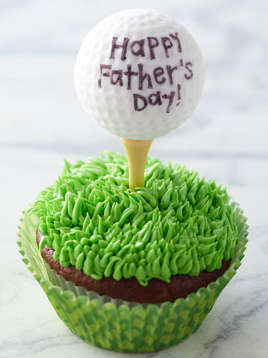 Father?s Day Golf Cupcake