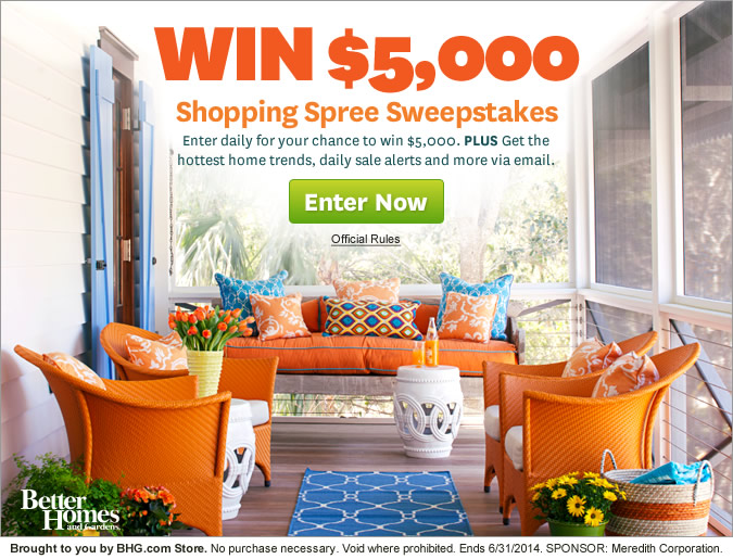 Better homes gardens online contest for Bhg shopping