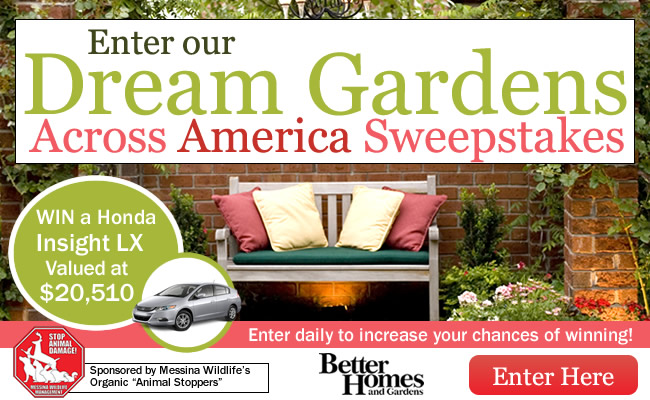 BHG' Dream Gardens Across America Sweepstakes (Bhg.com/Dreamgarden)